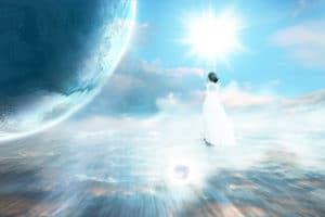 Engelkarte ziehen Engel am Himmel
